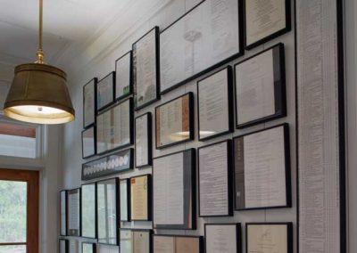 Ford Plantation Hallway with Frames On Wall
