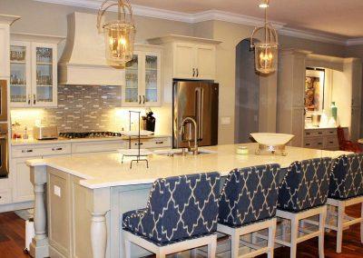 Greencraft Custom Homes White Island Kitchen