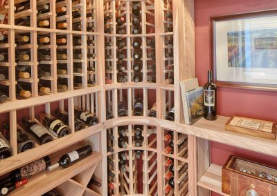 Greencraft Custom Homes Belfair Plaintation Bluffton Wine Room