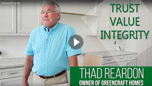 Thad Reardon Greencraft Custom Homes YouTube Video